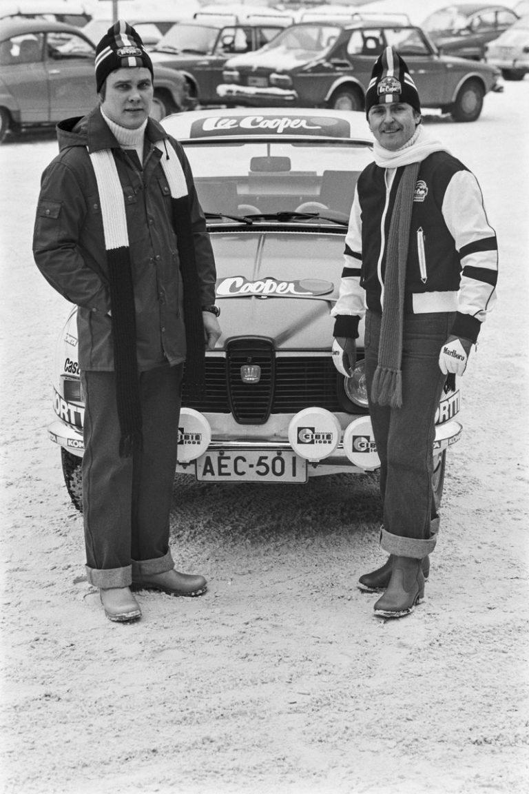 Päivän autourheilukuva: Simo Lampinen ja Saab 1977