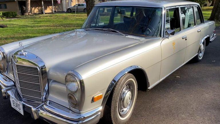 Päivän  museoauto: Vielä ehtii ostaa Elvis Presleyn käytössä ollut Mercedes-Benz 600 1969