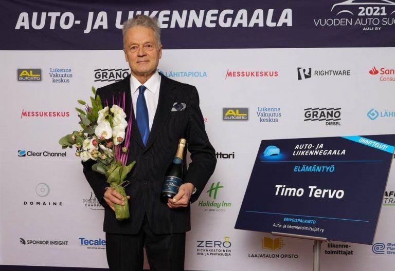 Auto- ja liikennegaala: Elämäntyö-palkinto myönnettiin liikennelääketieteen emeritusprofessorille Timo Tervolle