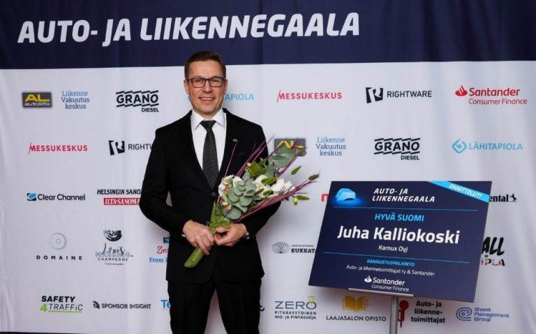 Auto- ja liikennegaala: Hyvä Suomi! -palkinto myönnettiin Kamuxin perustajalle