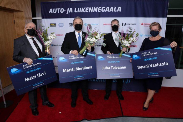 Auto- ja liikennegaala: Journalismi-palkinto Suomen autolehdistön testaustoiminnan kehittäjille