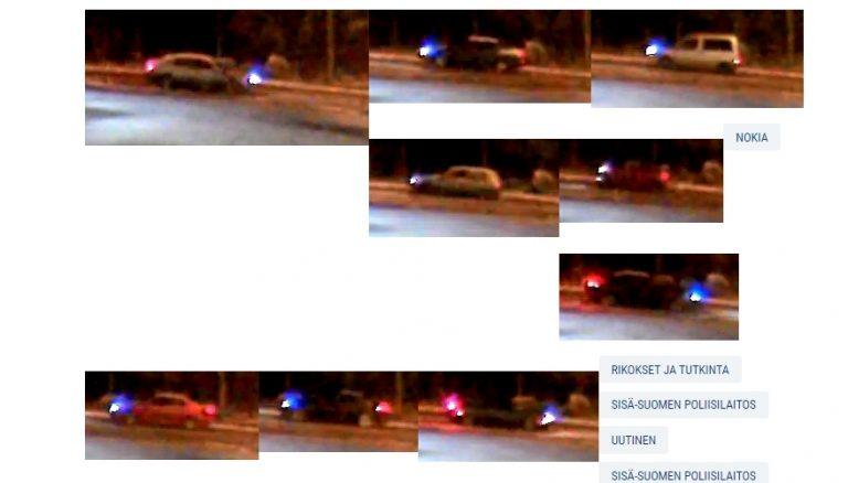 Nokian henkirikos: Poliisi julkaisi monta kuvaa ohi ajaneista autoista — tunnistatko omasi?