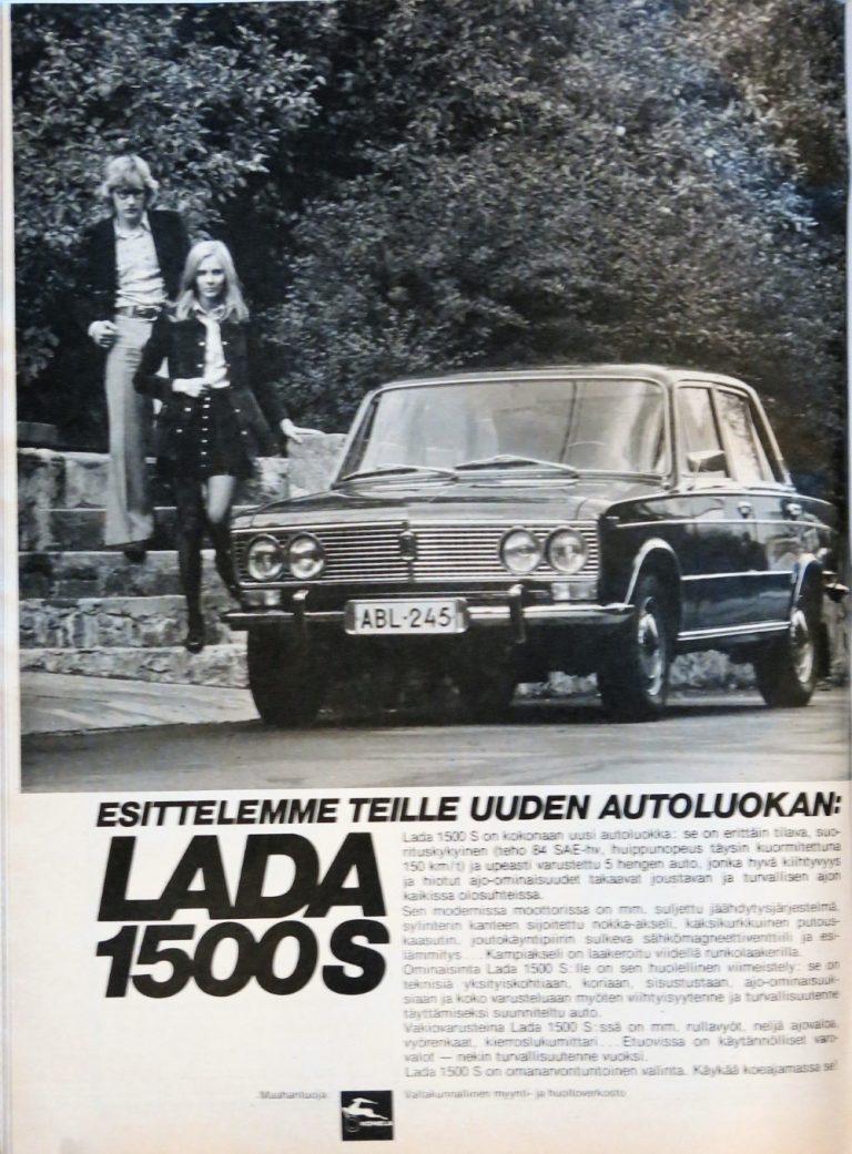 Päivän automainos: Esittelemme teille uuden autoluokan: Lada 1500 S