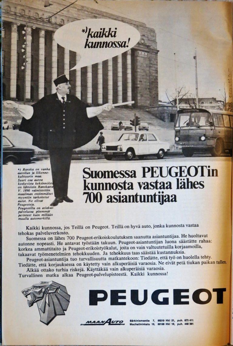 Päivän automainos: Suomessa Peugeotin kunnosta vastaa lähes 700 asiantuntijaa