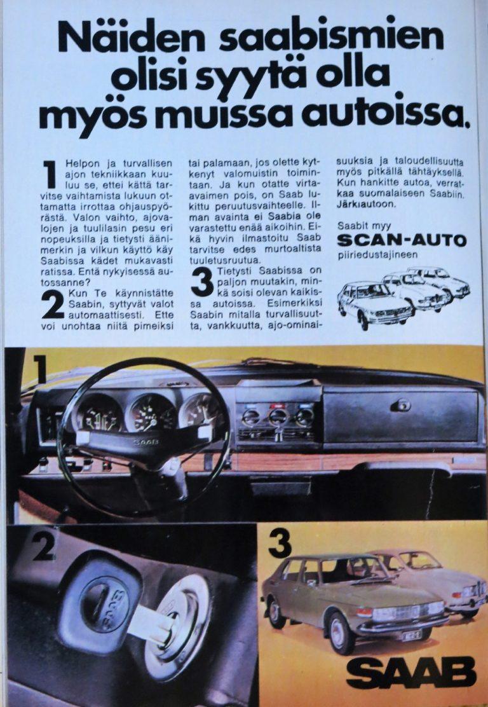 Päivän automainos: Näiden saabismien olisi syytä olla myös muissa autoissa.