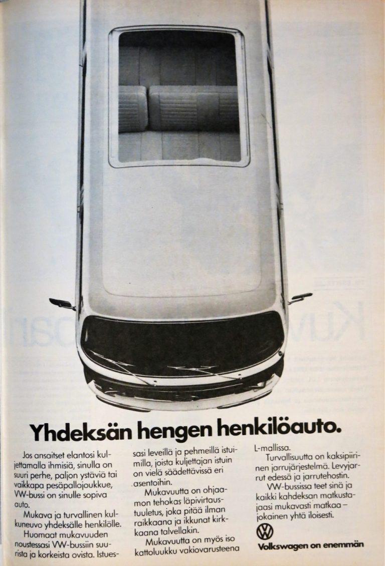 Päivän automainos: Yhdeksän hengen henkilöauto