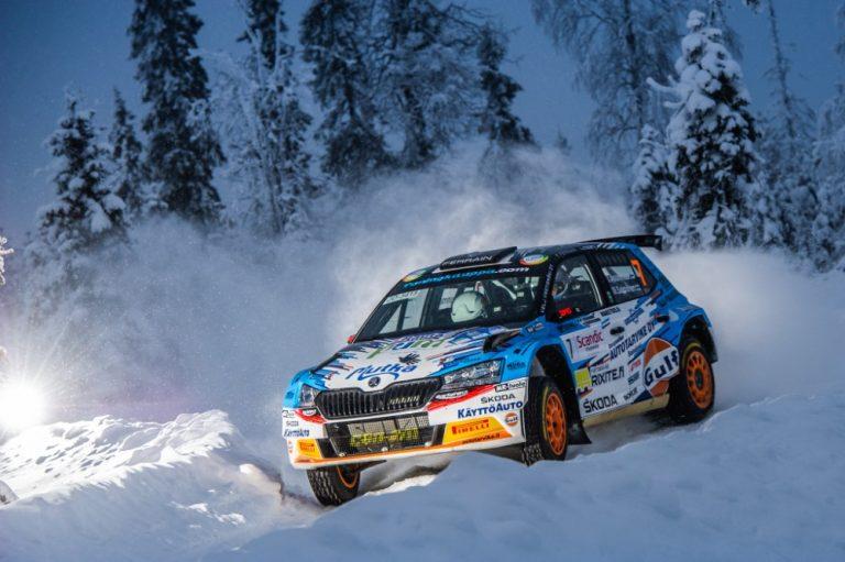 Juho Hänninen Arctic Lapland Rallyn kärjessä perjantain jälkeen