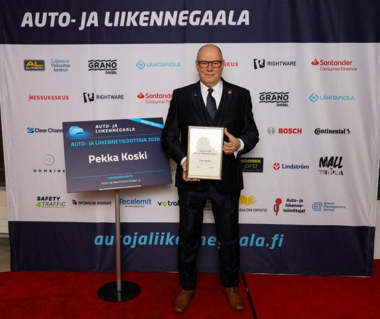 Auto- ja liikennegaala: Vuoden auto- ja liikennetiedottaja 2020 on Pekka Koski