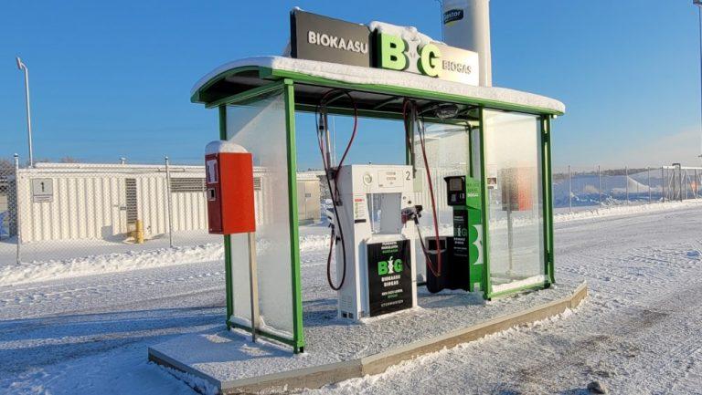 Paikallinen biokaasutuotanto laajentaa kaasun tankkausverkostoa Suomessa