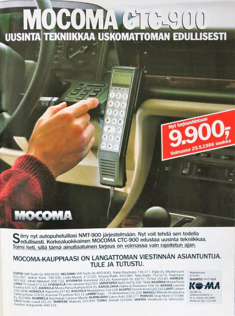 Päivän automainos: Mocoma CTC-900 — Uusinta tekniikkaa uskomattoman edullisesti
