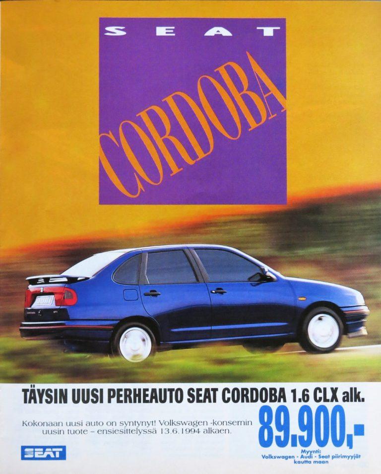 Päivän automainos: Seat Cordoba