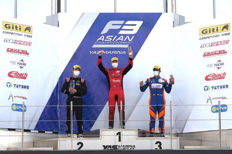 Patrik Pasma kolme kertaa palkintopallille Aasian F3-sarjan päätöksessä