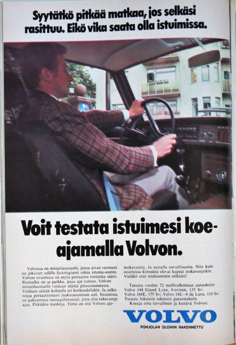 Päivän automainos: Voit testata istuimesi koeajamalla Volvon
