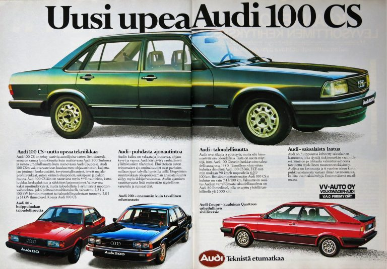 Päivän automainos: Uusi upea Audi 100 CS