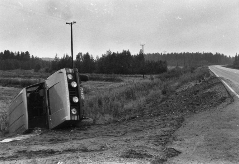 Päivän kolarikuva: Rattijuopon ulosajo Nurmeksessa