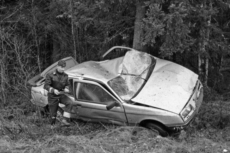 Päivän kolarikuva: Ulosajo Nurmeksessa 1988