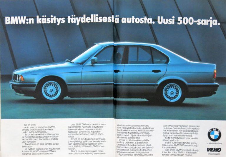 Päivän automainos: BMW:n käsitys täydellisestä autosta. Uusi 500-sarja.