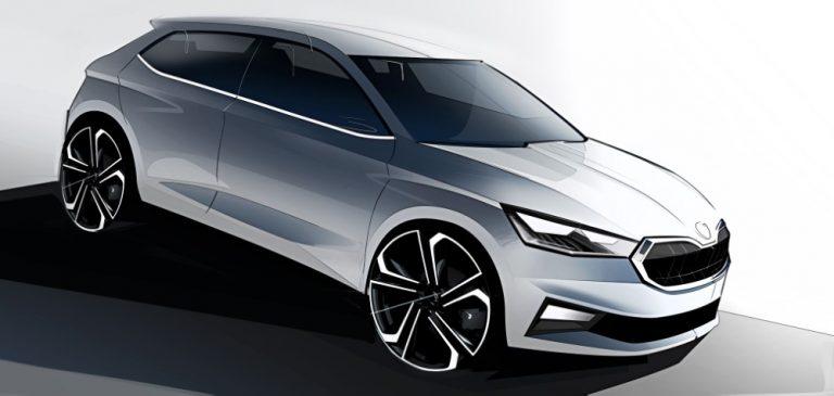 Luonnoskuvia tulevasta Škoda Fabiasta