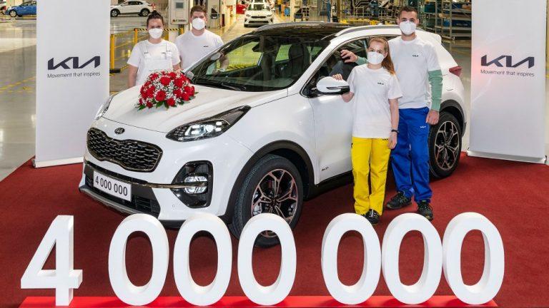 Kian Euroopan tehtaalla valmistettu jo yli neljä miljoonaa autoa