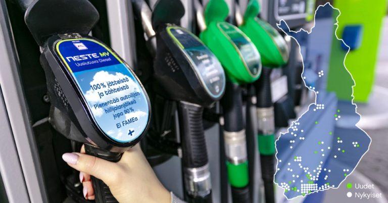 Nesteen uusiutuvan dieselin jakelu laajenee