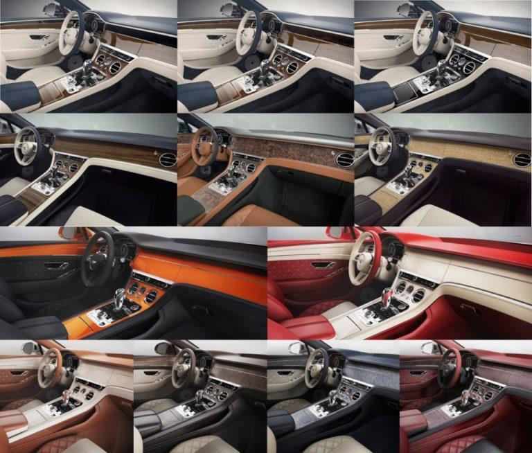 Bentleyn sisustaksi voi valita todella yksilöllisen — tarjolla yli 5 000 pintavaihtoehtoa