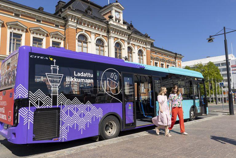 Kuopioon 13 uutta sähköbussia