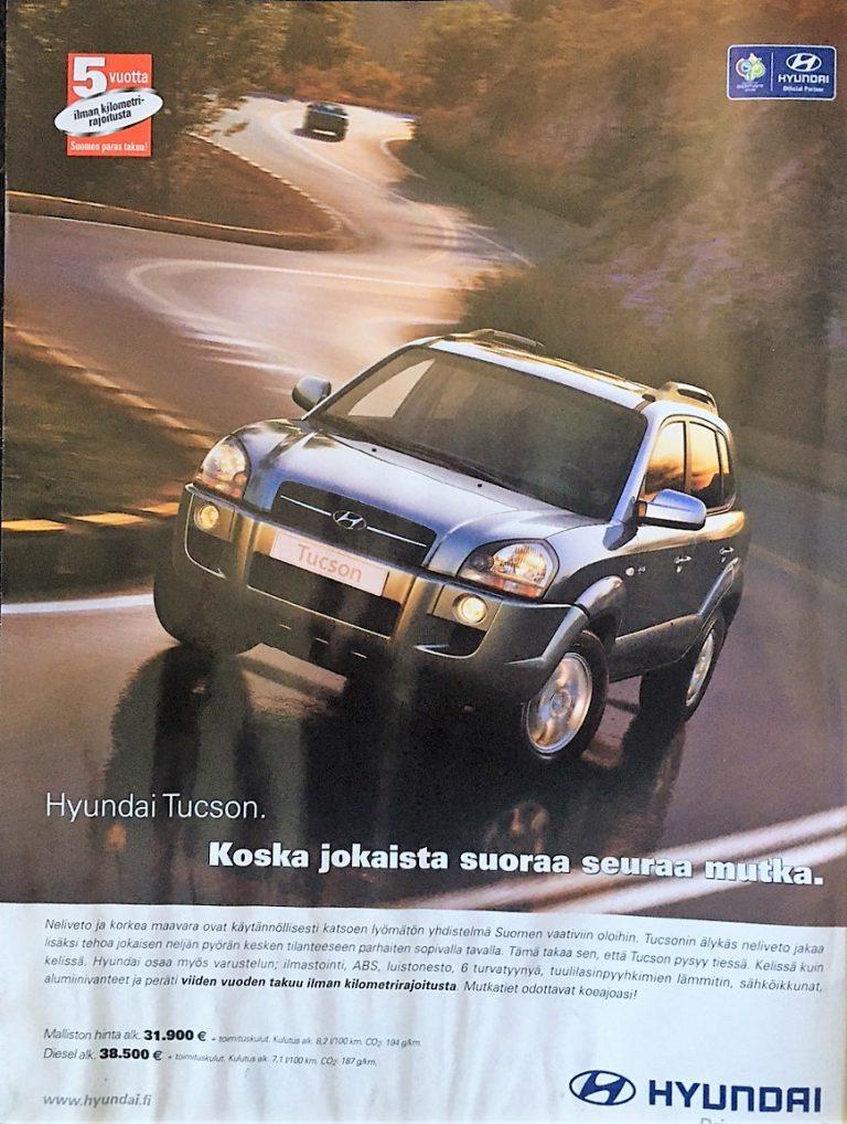 Päivän automainos: Hyundai Tucson — Koska jokaista suoraa seuraa mutka.