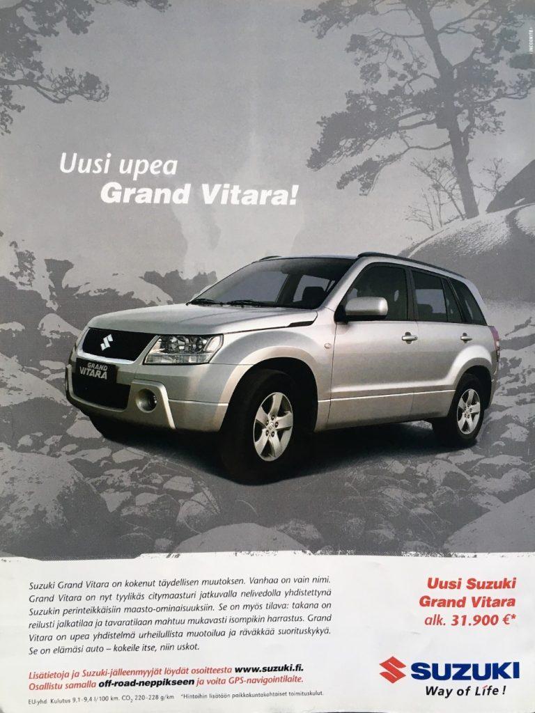 Päivän automainos: Uusi upea Grand Vitara!