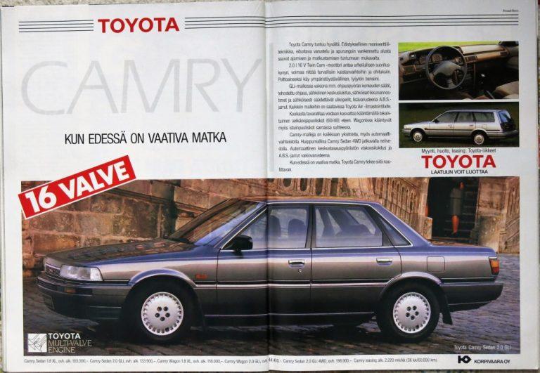 Päivän automainos: Toyota Camry — kun edessä on vaativa matka