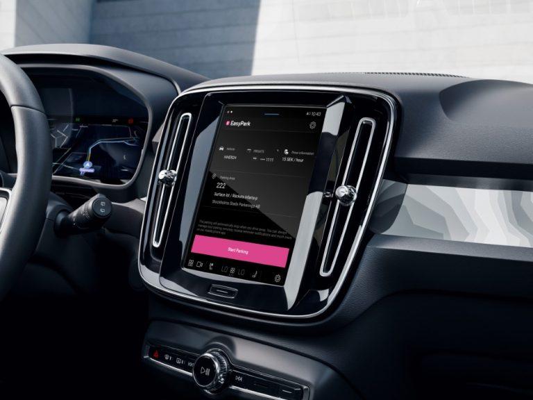 EasyParkin pysäköintijärjestelmä integroitu Volvon Android-järjestelmään