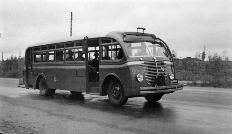 Päivän linja-auto: Volvon puukaasukäyttöinen linja-auto