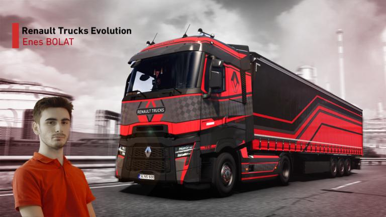 Turkkilainen Euro Truck Simulator 2 -pelaaja voitti Renault Trucksin kansainvälisen suunnittelukilpailun