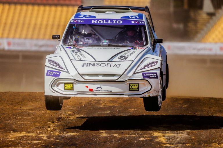 Jesse Kallio täyssähköisellä rallicrossautolla Ruotsin MM-osakilpailuun
