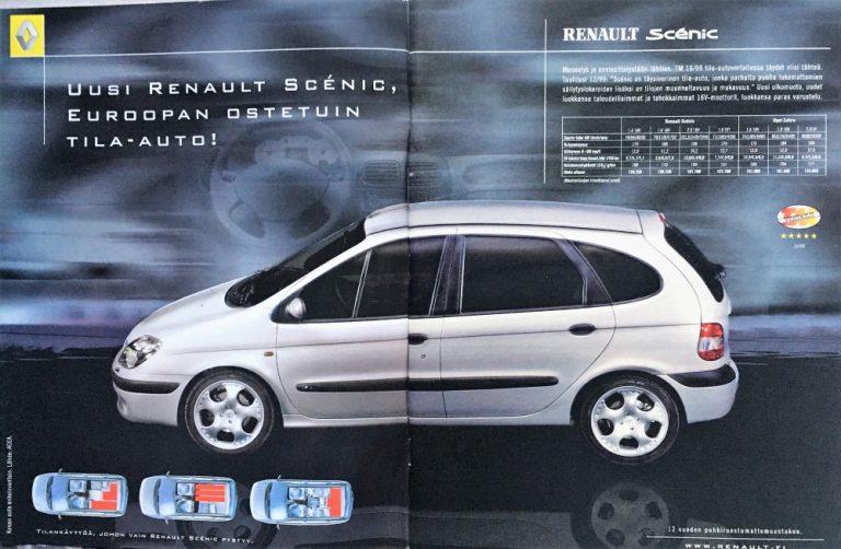 Päivän automainos: Uusi Renault Scénic, Euroopan ostetuin tila-auto!