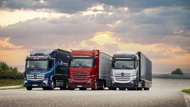 Mercedes-Benz Trucks tuo sekä sähköautoja että vetyautoja markkinoille