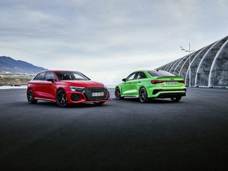 Audi RS 3 Sportbackin ja RS 3 Sedanin myynti on alkanut