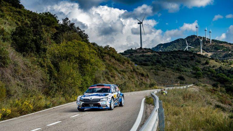 WRC: Emil Lindholm kiihdytti WRC3-luokan kärkeen Espanjassa