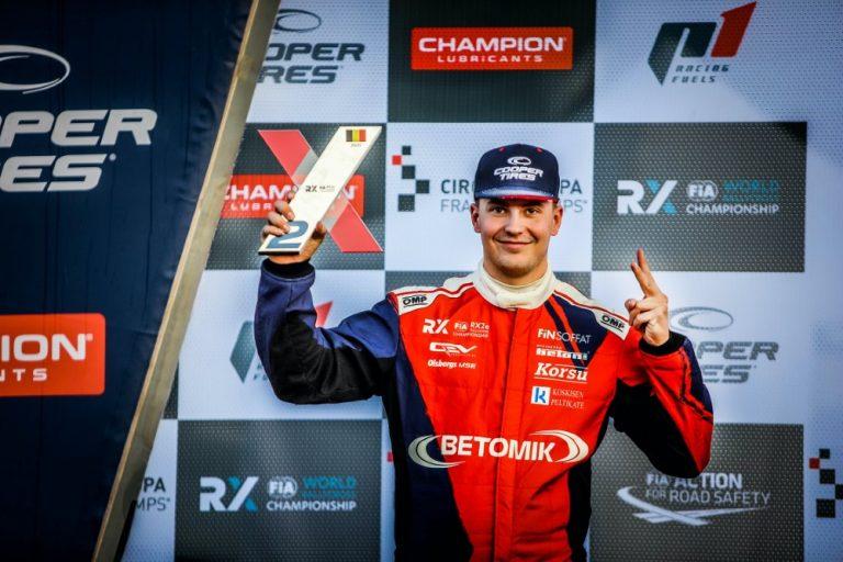 Jesse Kallio varmisti rallicrossin RX2e-luokan kakkossijan Belgiassa